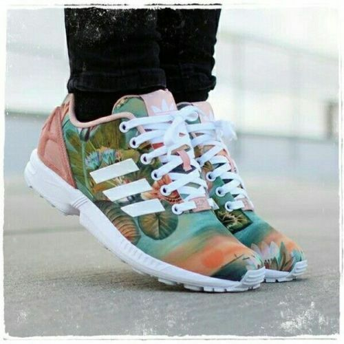 Adidas ZX FLUX W W W Women's Running shoes Multi-color  B25483 Size 11''AUTHENTIC''  3c0674