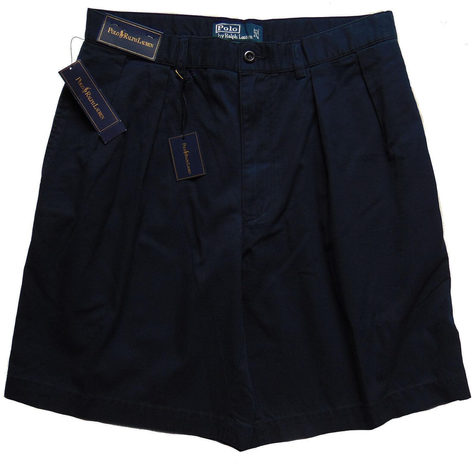 Men's POLO RALPH LAUREN Navy bluee TYLER Twill Logo Shorts 30 NWT NEW +