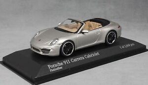 Minichamps-PORSCHE-911-991-Carrera-Cabriolet-in-argento-2012-410060231-1-43-NUOVI