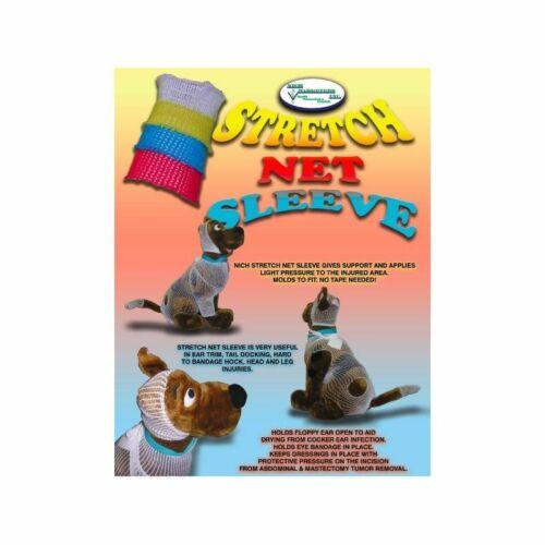 "Stretch Net N72 Blue 3/""x10 yd IV Leg Bandage Small Animals 20-75 Pounds"