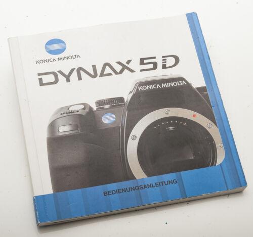 Minolta Dynax 5d 5 d manual de instrucciones manual de instrucciones