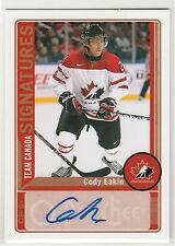 2012 12-13 O-Pee-Chee Team Canada Signatures #TCCE Cody Eakin C autograph