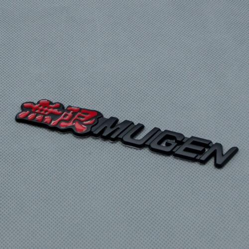 Matte Black Metal MUGEN Car Body Emblem Rear Tailgate Trunk Sport Badge For CRV