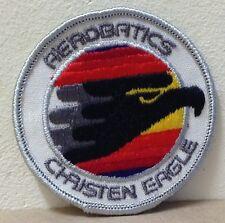 "RARE Aerobatics Christen Eagle Patch Black embroidered Air Show USA 2 3/4"""