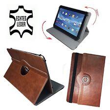 9,7 zoll Leder Tablet Komodo android 4,1 Tablette Tasche - 360° Braun Echtleder