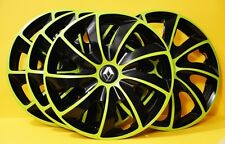 "14"" Renault Clio,Kangoo,Megane...WHEEL TRIMS/COVERS, HUB CAPS,Green&Black"