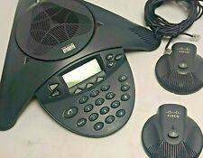 Cisco Cp 7936 Voip Pbx Conference Station Phone 7936 With 2x External Microphones