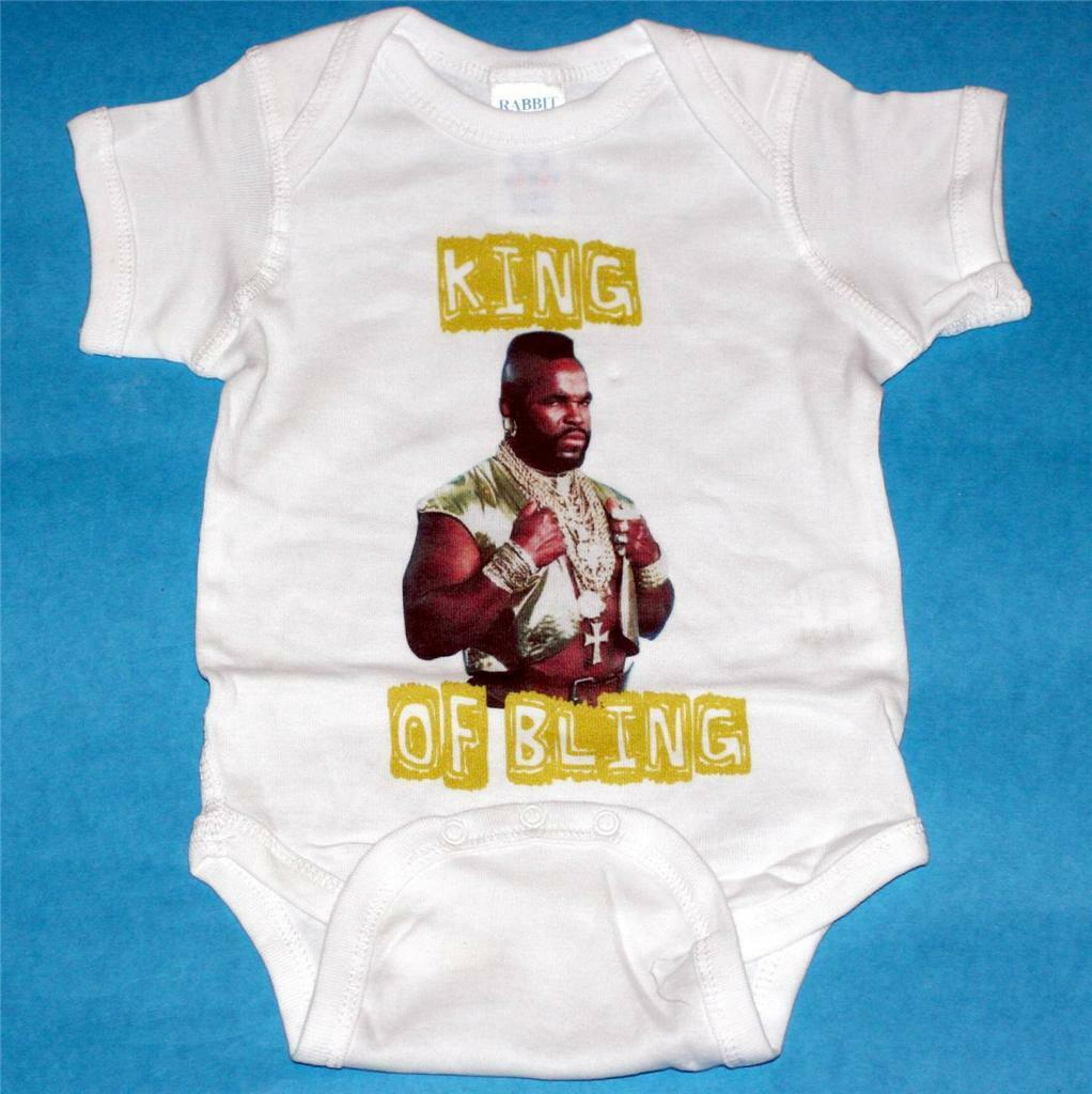 MR T Clubber Lang A TEAM Baby Infant Toddler CLOTHING BODYSUIT 6 12 18 24 Months