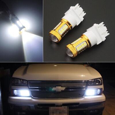 2pc 6K HID White 27-SMD LED Daytime Running Light Bulbs 3156 3157 3757 4114 4157
