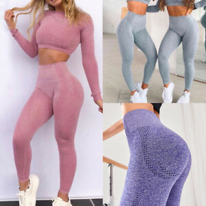 Womens-Seamless-Yoga-Pants-High-Waisted-Fitness-Leggings-Gym-Sports-Active-Wear