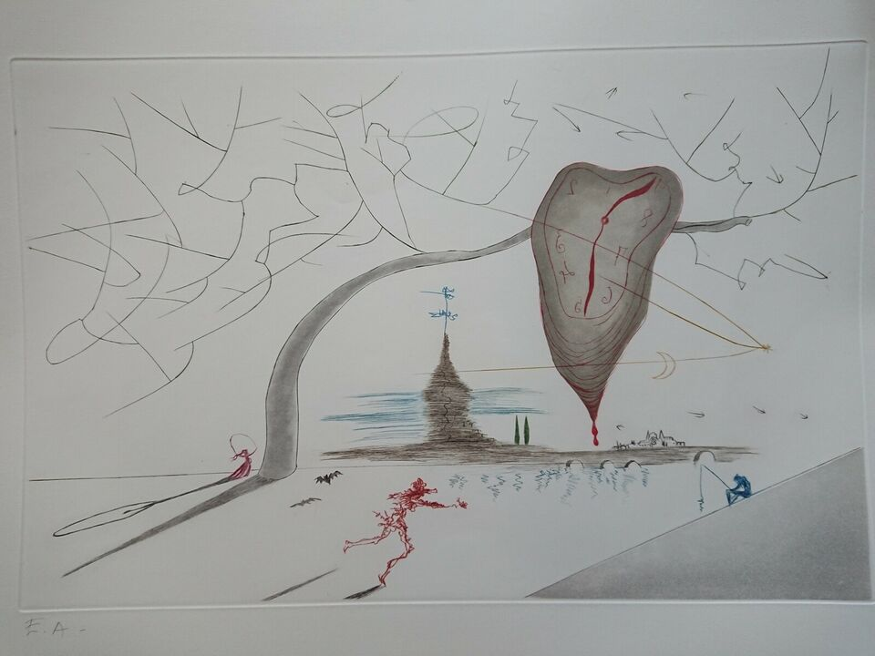 Litografi, Salvador Dali, b: 84,5 h: 68,5