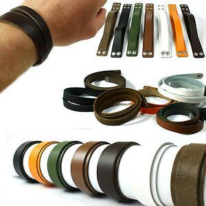 Echt-Leder-Armband-Wickel-Doppel-Schmal-Breit-Lederarmband-Made-in-Germany