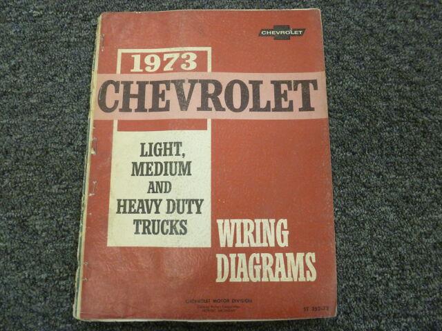 1973 Chevy C10 C20 C30 K10 K20 K30 Truck Electrical Wiring Diagram Manual