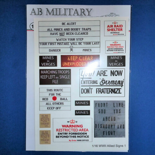 1//16 Scale WWII Allied Signs 1