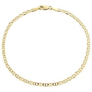 sehr schöne 333er gelb Gold Fußkettchen mit 13 Kugel Damen Kette Anker rund 25cm