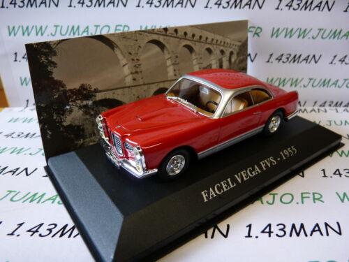 FACEL VEGA FVS 1955 rouge AUT28M Voiture 1//43 IXO altaya Voitures d/'autrefois