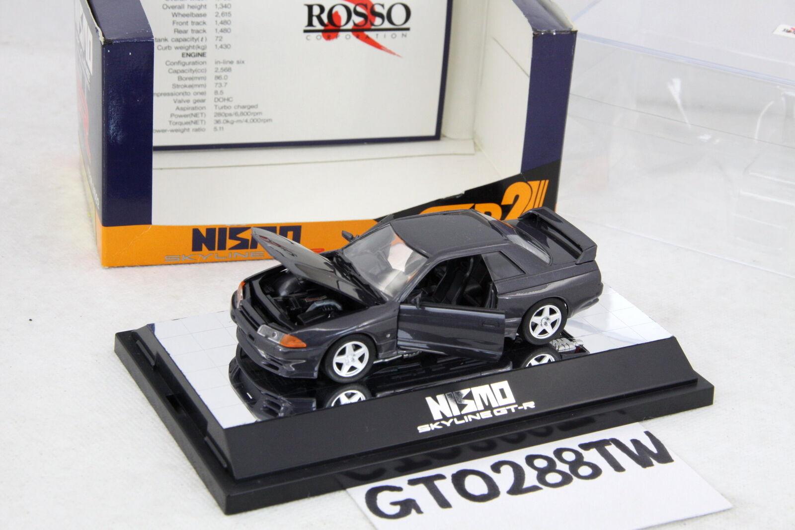 rojo 1 43 escala Nismo Nissan Skyline Skyline Skyline R32 GT-R 1990 Gun Metal (con Motor apertura) de56fa
