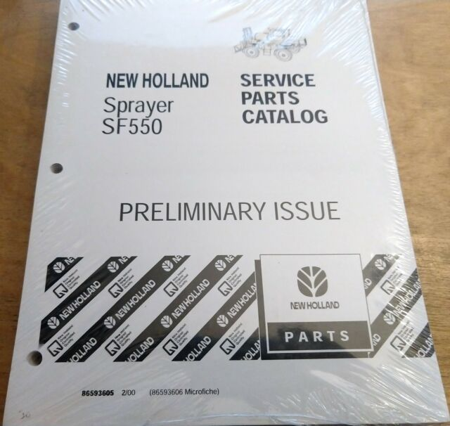 Holland SF550 Sprayer Parts Catalog Manual