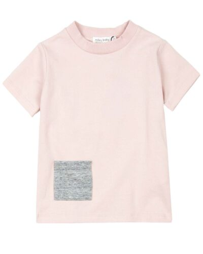 Sizes 6M-4 MILES BABY Girls Pink T-shirt with Pocket