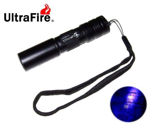 395nm, AA New Ultrafire C3 UV Led Flashlight Ultraviolet Detector Cheque
