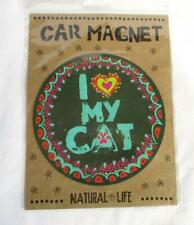 BE HAPPY PURRFECT FRIEND sticker set of 4 Natural Life Cat Meow I LOVE MY CAT