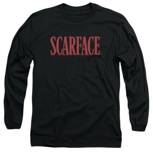 Scarface Movie TITLE LOGO Licensed Adult Long Sleeve T-Shirt S-3XL
