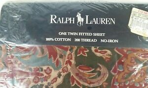 Ralph-Lauren-SERENGETTI-SAFARI-Twin-fitted-sheet-Colorful-jeweltones-Tribal-NEW