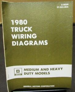 1980 GMC Chevy Electrical Wiring Diagram Dealer Manual ...