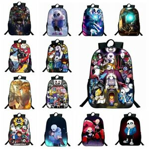 b0f0972c7d Image is loading Anime-Undertale-3D-Print-Children-Travel-School-Backpacks-