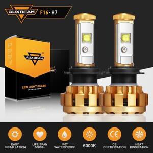 2X-AUXBEAM-H7-LED-Headlight-Kit-Light-Bulbs-Lamp-6000LM-60W-White-Beam-6000K