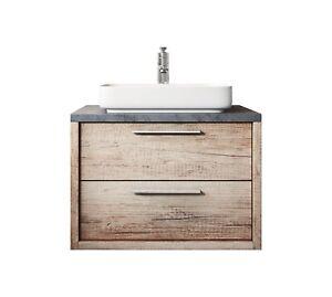 Details zu Badezimmer Badmöbel Indiana 70 cm nature wood - Unterschrank  Waschbecken