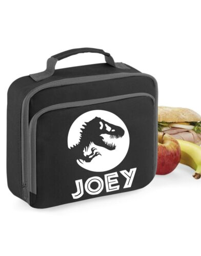 Dinosaur Lunch Bag boys Box School Dinners girls personalised gift jurassic kids