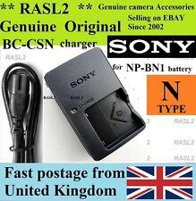 Genuine Original SONY Charger BC-CSN NP-BN1,NP-BN CyberShot DSC- T99 T110 TX100
