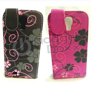 FOR-SAMSUNG-GALAXY-S4-MINI-FLOWER-DESIGN-PRINT-PU-LEATHER-FLIP-POUCH-COVER-CASE