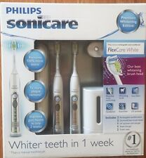 Philips Sonicare Flexcare Rechargeable Sonic Toothbrush Premium 2 Pack HX6962