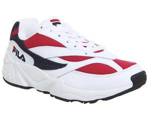 e802a8872dbe Womens Fila Venom Trainers White Fila Navy Fila Red Trainers Shoes ...