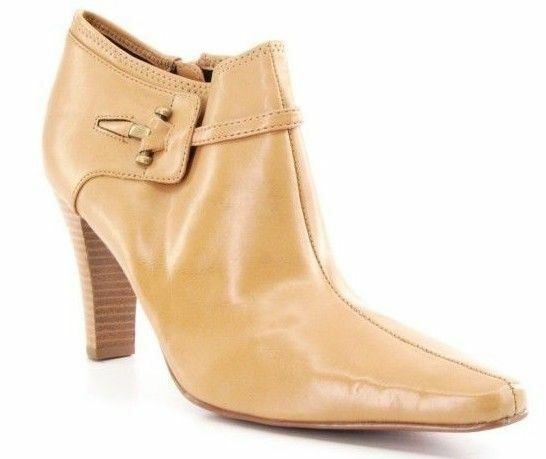 New STYLE&CO Women Ankle Side Zip High Heel Pointy Toe Bootie Boot shoes Sz 9.5 M