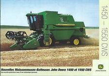 Farm Combine Brochure - John Deere - 1450 1550 CWS - FRENCH - c2001 (F4782)