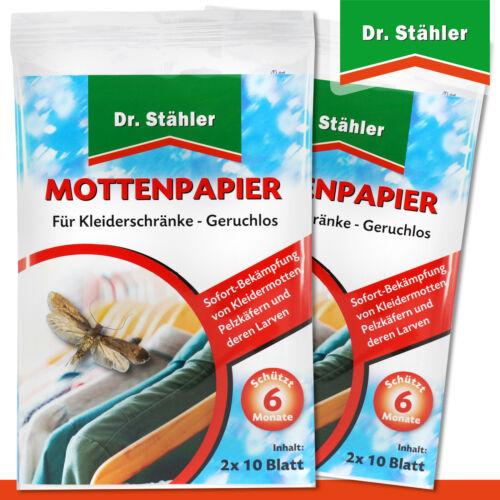 Stähler 2 Packungen 2 x 10 Blatt Mottenpapier Dr