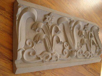Dynamisch Stucco - Traumhaftes Schmuckband 132-3004 Aus Beton, Wandfries Stuck, Fassade Hochwertige Materialien