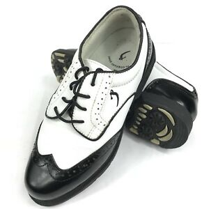 White Wingtip Golf Shoes 1805
