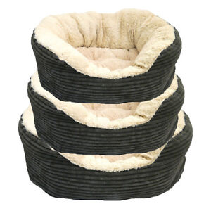 Rosewood-Pet-40-Winks-Grey-Jumbo-Cord-Plush-20-034-25-034-32-034-Dog-Bed