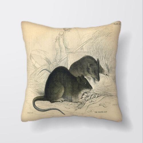 Vintage ratas Cushion Covers Fundas Almohada De Decoración del hogar o interior