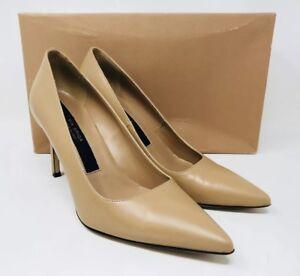 01a5a10964b8 Via Spiga Women's Nikole Leather Pointed Toe Pumps Size 7 Desert ...