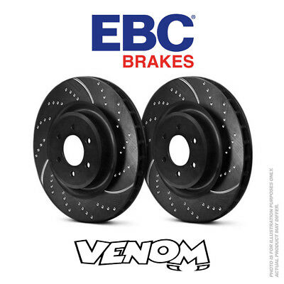 EBC TURBO GROOVE FRONT DISCS GD394 FOR FIAT UNO 1.3 TURBO 1985-89