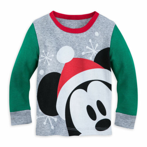 Disney Authentic Mickey Mouse Pajamas Baby Boys 0 3 6 9 12 18 24 Months Holiday