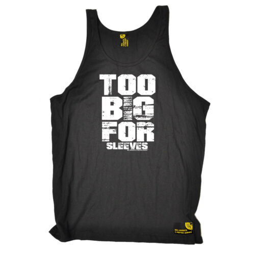 Gym Bodybuilding Débardeur Drôle Nouveauté singulet haut en jersey-trop gros pour manches