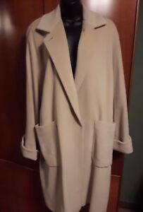 Soft Us Coat Beige amp; Blend 10 Made Wool Angora In Italy Bemberg Size AwxZqdRA