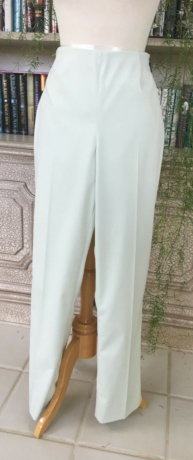 Peace of Cloth Pastel Green Side Zip Pants, Size 12.  NWOT.