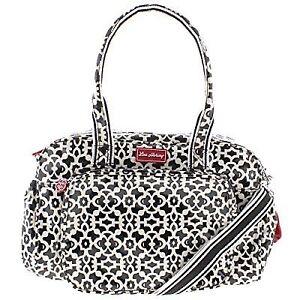 447e8d195f Lou Harvey Diana Crossbody Baby Nappy Diaper Bag Black-white Large BHFO 7458